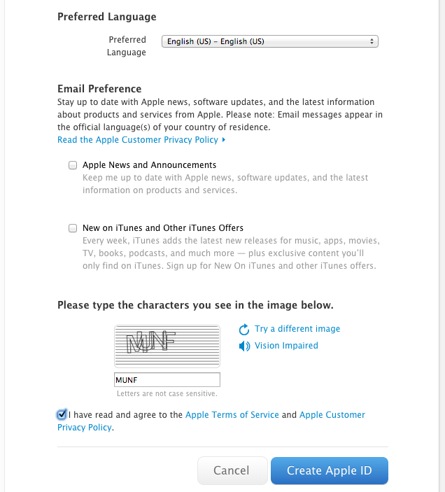 How to create an Apple ID on a PC or Mac – LRS Support